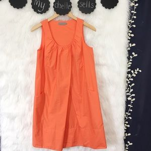 COS Minimalist Orange Sleeveless Shift Dress-J2